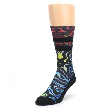 Image of Black Multi Patterned Men's Casual Socks (side-2-front-07)