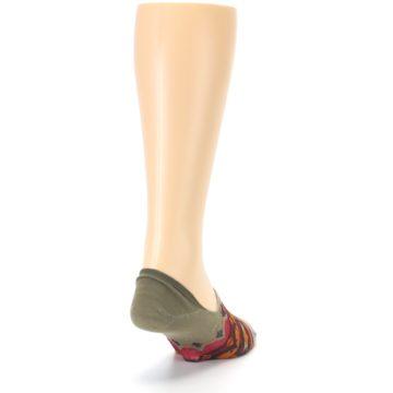 Image of Grey Orange Tribal Pattern Men's Liner Socks (side-1-back-20)