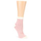 Coral Cream Stripes Womens Ankle Socks PACT