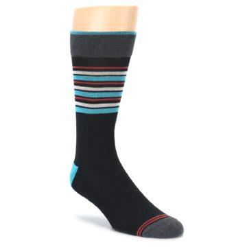 Black Blue Orange Stripes Mens Dress Socks PACT