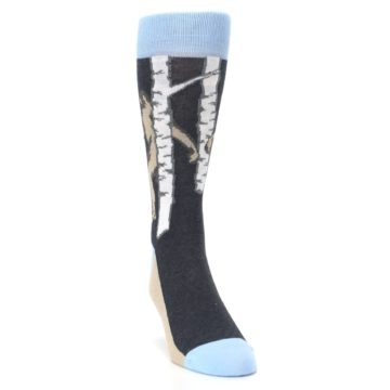 Image of Charcoal Brown Bigfoot Sasquatch Men's Dress Socks (side-1-front-03)