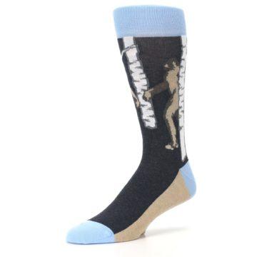 Image of Charcoal Brown Bigfoot Sasquatch Men's Dress Socks (side-2-09)