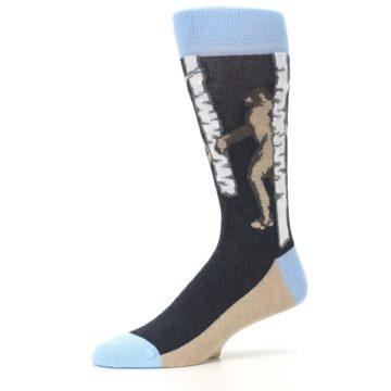 Image of Charcoal Brown Bigfoot Sasquatch Men's Dress Socks (side-2-10)