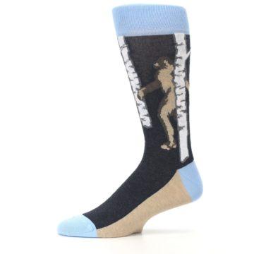 Image of Charcoal Brown Bigfoot Sasquatch Men's Dress Socks (side-2-11)