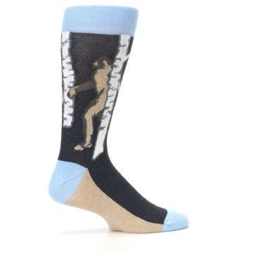 Image of Charcoal Brown Bigfoot Sasquatch Men's Dress Socks (side-1-24)