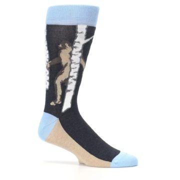 Image of Charcoal Brown Bigfoot Sasquatch Men's Dress Socks (side-1-25)
