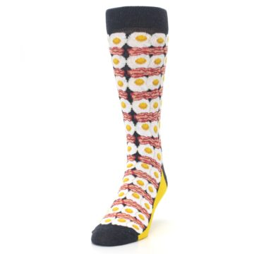 Image of Eggs and Bacon Men's Dress Socks (side-2-front-06)