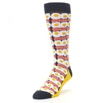 Image of Eggs and Bacon Men's Dress Socks (side-2-front-07)