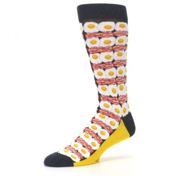 Image of Eggs and Bacon Men's Dress Socks (side-2-09)