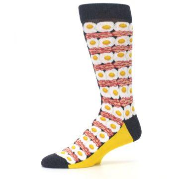 Image of Eggs and Bacon Men's Dress Socks (side-2-10)