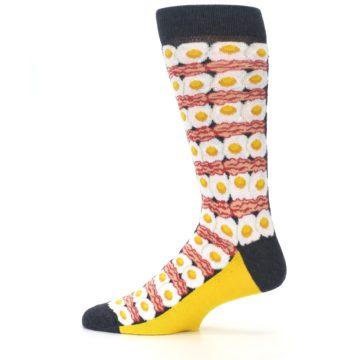 Image of Eggs and Bacon Men's Dress Socks (side-2-12)