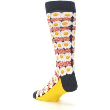 Image of Eggs and Bacon Men's Dress Socks (side-2-back-15)