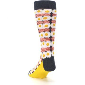 Image of Eggs and Bacon Men's Dress Socks (side-2-back-16)