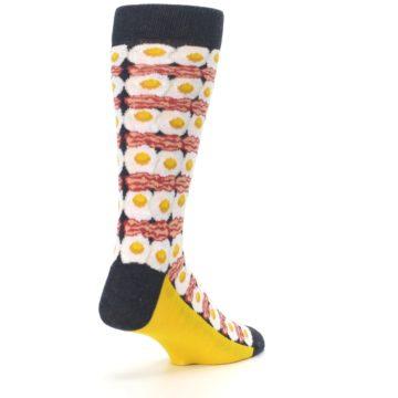 Image of Eggs and Bacon Men's Dress Socks (side-1-back-21)
