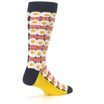 Image of Eggs and Bacon Men's Dress Socks (side-1-back-22)