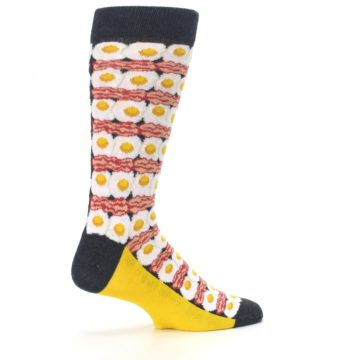 Image of Eggs and Bacon Men's Dress Socks (side-1-23)
