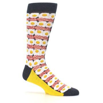 Image of Eggs and Bacon Men's Dress Socks (side-1-25)