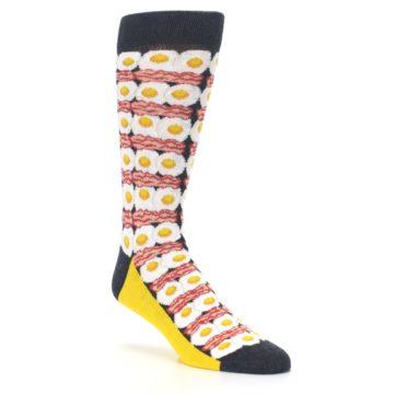Image of Eggs and Bacon Men's Dress Socks (side-1-27)