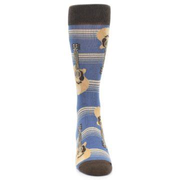 Image of Blue Tan Acoustic Guitars Men's Dress Socks (front-04)