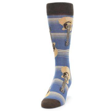 Image of Blue Tan Acoustic Guitars Men's Dress Socks (side-2-front-06)