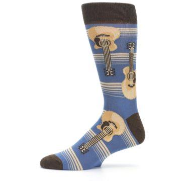 Image of Blue Tan Acoustic Guitars Men's Dress Socks (side-2-11)