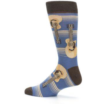 Image of Blue Tan Acoustic Guitars Men's Dress Socks (side-2-13)