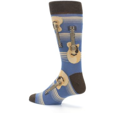 Image of Blue Tan Acoustic Guitars Men's Dress Socks (side-2-back-14)