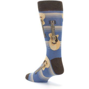 Image of Blue Tan Acoustic Guitars Men's Dress Socks (side-2-back-15)