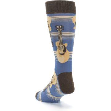 Image of Blue Tan Acoustic Guitars Men's Dress Socks (side-2-back-16)