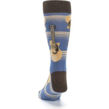 Image of Blue Tan Acoustic Guitars Men's Dress Socks (back-17)