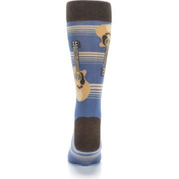 Image of Blue Tan Acoustic Guitars Men's Dress Socks (back-18)