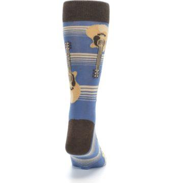Image of Blue Tan Acoustic Guitars Men's Dress Socks (back-19)