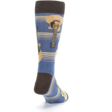 Image of Blue Tan Acoustic Guitars Men's Dress Socks (side-1-back-20)