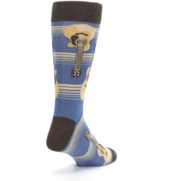 Image of Blue Tan Acoustic Guitars Men's Dress Socks (side-1-back-21)