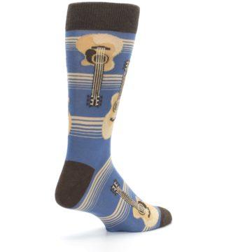 Image of Blue Tan Acoustic Guitars Men's Dress Socks (side-1-back-22)
