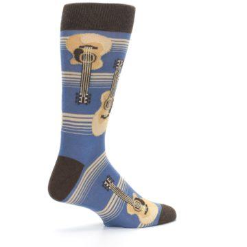 Image of Blue Tan Acoustic Guitars Men's Dress Socks (side-1-23)