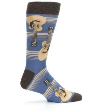 Image of Blue Tan Acoustic Guitars Men's Dress Socks (side-1-24)