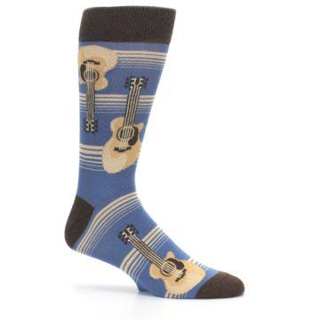 Image of Blue Tan Acoustic Guitars Men's Dress Socks (side-1-25)
