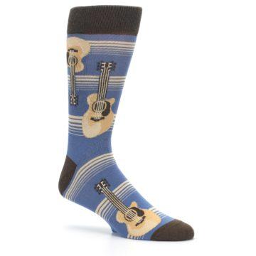 Image of Blue Tan Acoustic Guitars Men's Dress Socks (side-1-26)