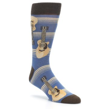 Image of Blue Tan Acoustic Guitars Men's Dress Socks (side-1-27)