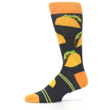Image of Charcoal Yellow Hard Shell Tacos Men's Dress Socks (side-2-11)