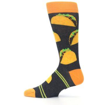 Image of Charcoal Yellow Hard Shell Tacos Men's Dress Socks (side-2-12)