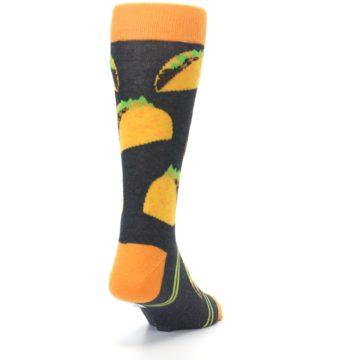 Image of Charcoal Yellow Hard Shell Tacos Men's Dress Socks (side-1-back-20)