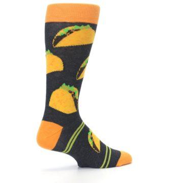 Image of Charcoal Yellow Hard Shell Tacos Men's Dress Socks (side-1-23)