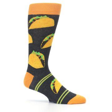 Image of Charcoal Yellow Hard Shell Tacos Men's Dress Socks (side-1-25)