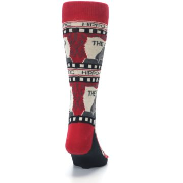 Image of Red Movie Theater Hippo-Critic Men's Dress Socks (back-19)