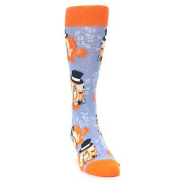 Image of Blue Orange So-fish-ticated Men's Dress Socks (side-1-front-03)
