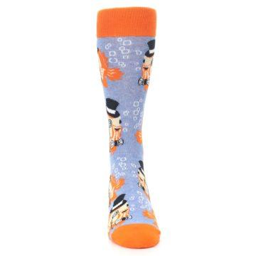 Image of Blue Orange So-fish-ticated Men's Dress Socks (front-04)