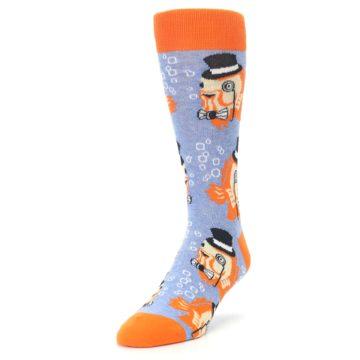 Image of Blue Orange So-fish-ticated Men's Dress Socks (side-2-front-07)