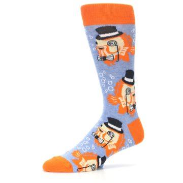 Image of Blue Orange So-fish-ticated Men's Dress Socks (side-2-10)
